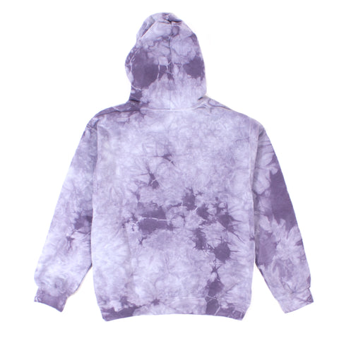 Thornless Purple Washed Tie-Dye Girls Hoodie