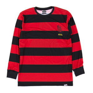 Violation Stripe L/S Tee Red/Blk