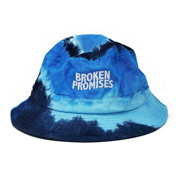 Wave Logo Bucket Hat Blue Tie Dye