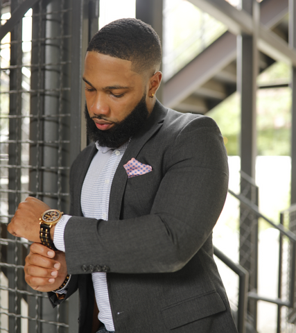 A Few Wood Men Watch With Business Suit
