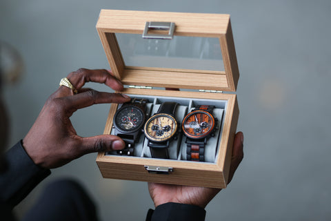wooden watch collection