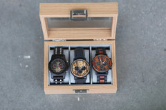 A Few Wood Men Wooden Watch Case