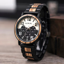 A Few Wood Men's Ultimate Split Wooden Timepiece - A Few Wood Men