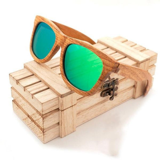 A Few Wood Men's Slick and Solid Natural Wood Sunglasses - A Few Wood Men
