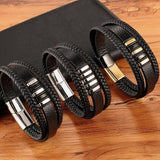 A Few Wood Men's Leather Bracelet Set - A Few Wood Men