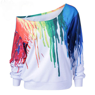 Punk Oil Painting Hip Hop 3D Print Sweatshirt