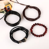 Leather Beads Bracelets for Man well Male