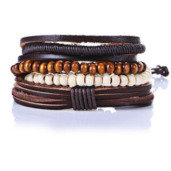 Bamboo Wood Beaded Bracelet