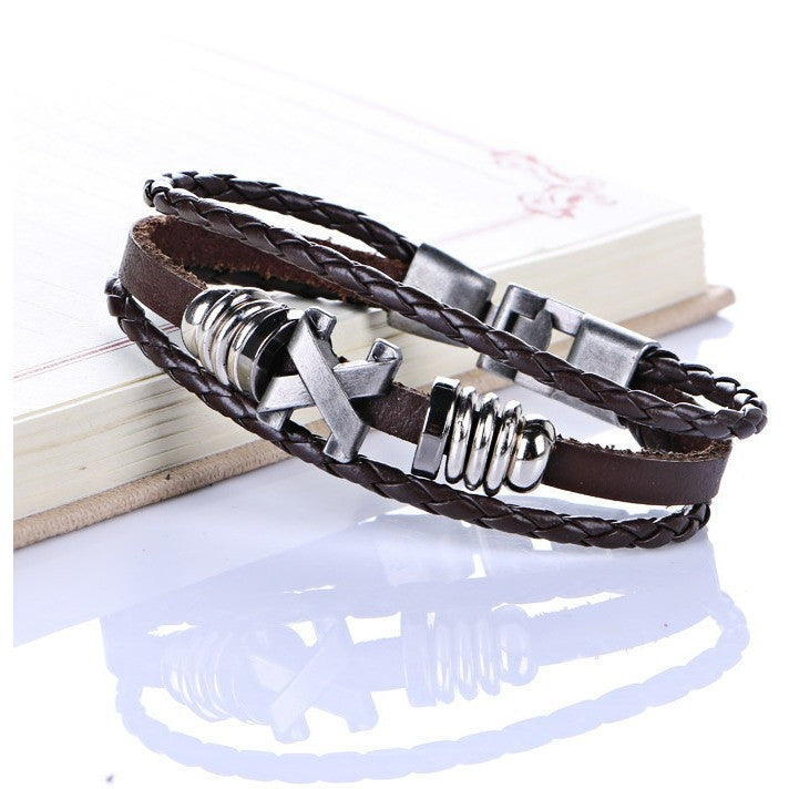 Handmade  Men  Leather Bracelets