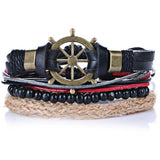 Anchor  Leather Bracelets for Men