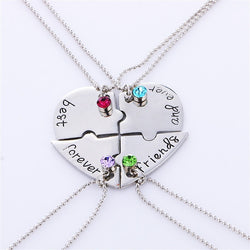 Best friend forever Necklace Set Heart Shape Puzzle