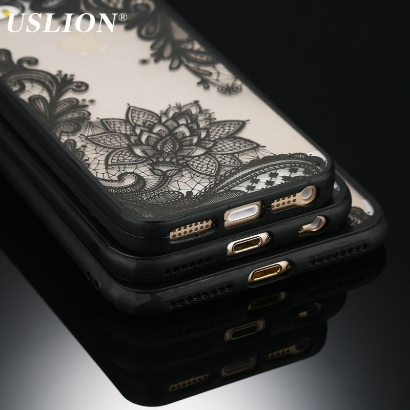 Sexy Retro Floral Phone Case For Apple iPhone 7, 7 plus, 6, 6s, 5, 5s, SE, Hard PC+TPU  Back Cover