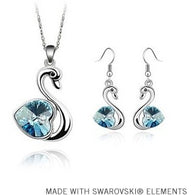 Mother's Day Gift Cristal Swan Jewelry Set