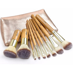 Set of Bamboo Brushes for Cosmetics
