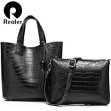 REALER snakeskin imitation  bag