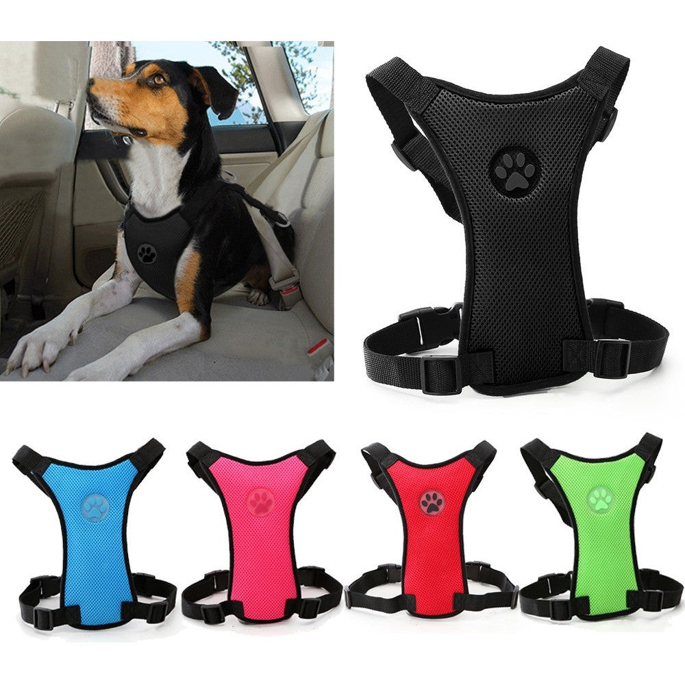 Soft Car Harness with Adjustable Straps Dog