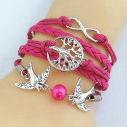 Cute Multilayer Leather Charm Bracelet