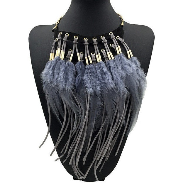 Boho Chic Elegant Feather Necklaces