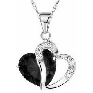 Heart-shape Crystal Necklace
