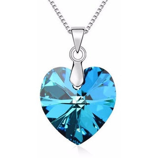Swarovski Crystal Heart Necklace Mother's Day Gift