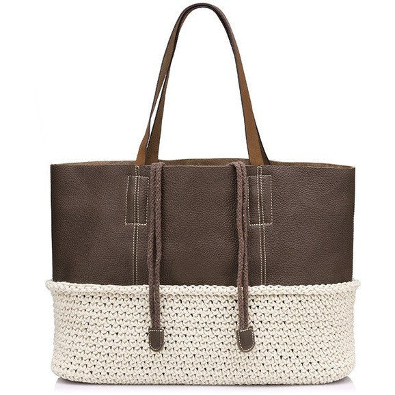 Women Tote Bag Casual Hand-Knitted handbag