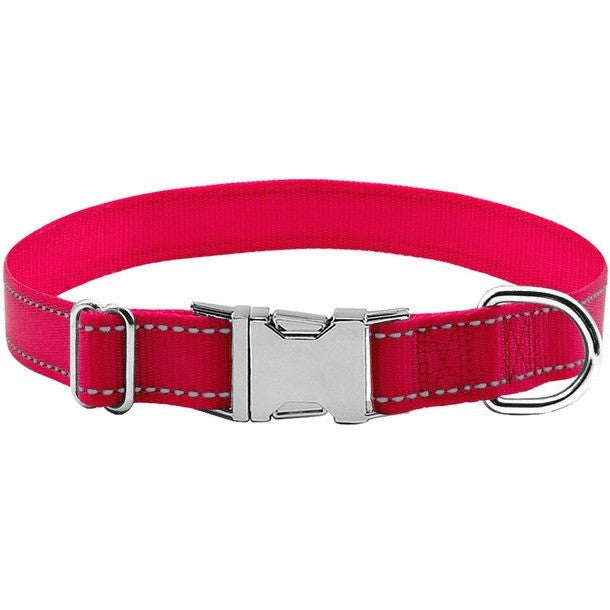 Reflective Nylon Adjustable Pet Collar For Dogs S M L
