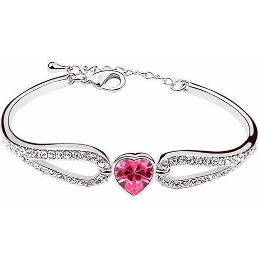 Rhodium Bracelets made with Crystal Swarovski, for Mother's gift