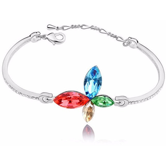 Butterfly Bracelet Made with Crystal Swarovski