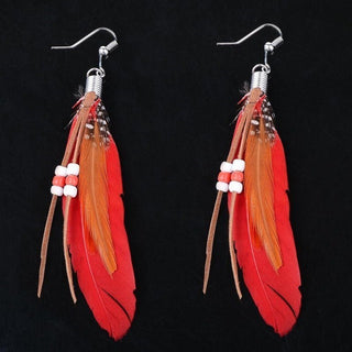 Goose Feather Boho Style Earring