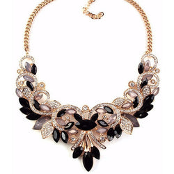 New Crystal Women Statement Necklace