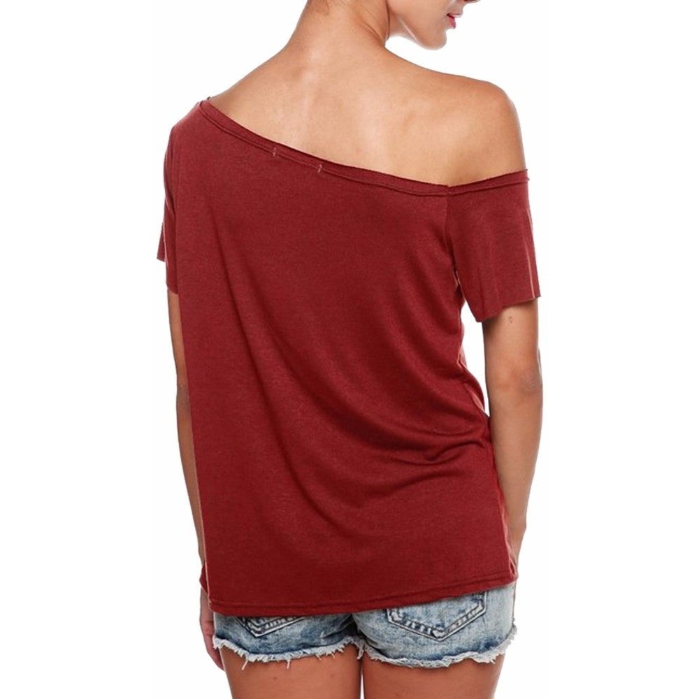 Fashion T Shirt Sleeve off Top Tees