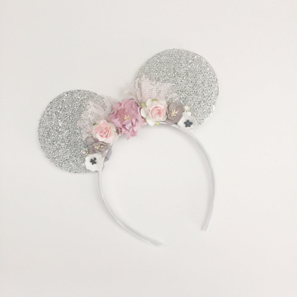 Floral Minnie Mouse Headband