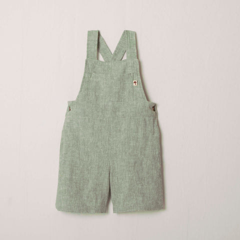 Play All Day Shortall in Sage Linen/Rayon blend