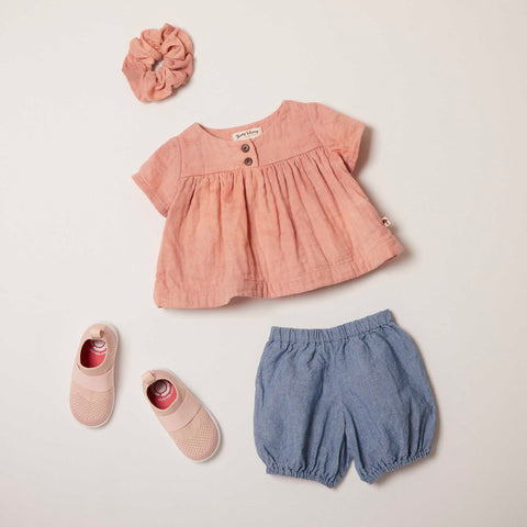 Short Sleeve Cottontail Blouse in Sunset