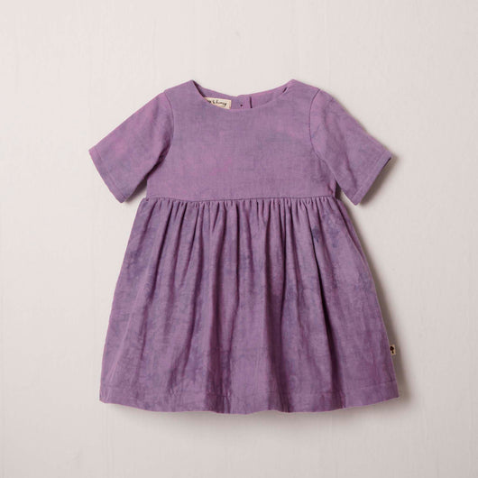Short Sleeve Charity Dress in Lilac