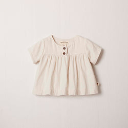 Short Sleeve Cottontail Blouse in Cream