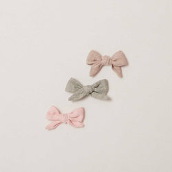 Hand Tied Bows in Linen