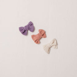 Hand Tied Bows in Gauze