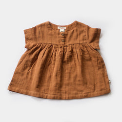Cottontail Blouse in Hazelnut