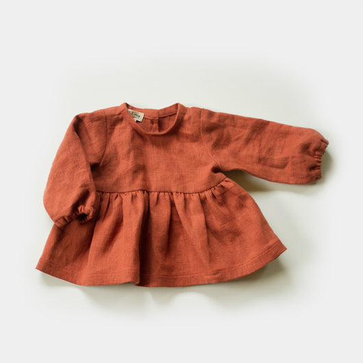 Peplum Blouse in Cinnamon