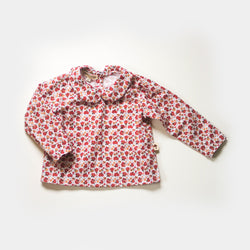 Prairie Floral Back Button Blouse