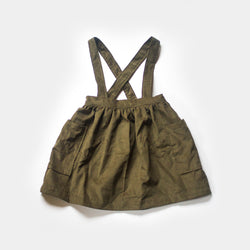 Elsie Suspender Skirt in Juniper Corduroy