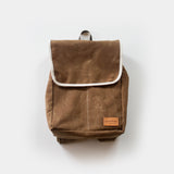Knapsack in Acorn Waxed Canvas
