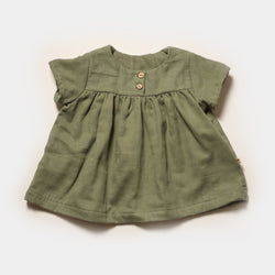 Cottontail Blouse in Kale