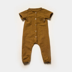 Cottage Coverall in Chai Chambray
