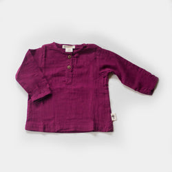 Henley Tee in Wildberry