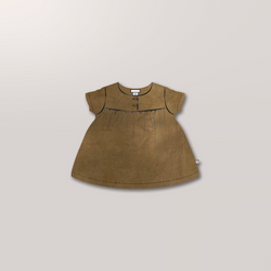 Short Sleeve Cottontail Blouse in Ochre