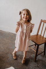 Josefine Flutter Dress in Peony
