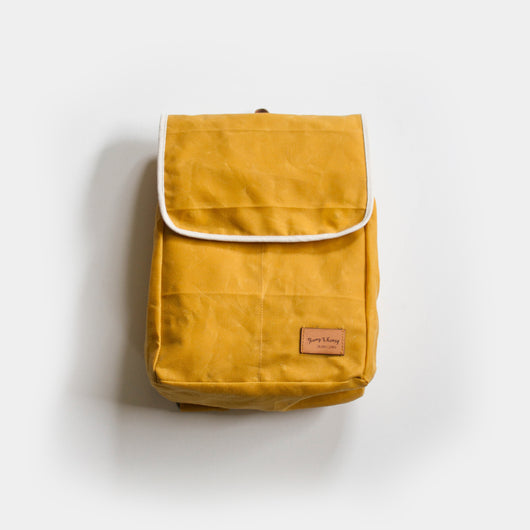 Knapsack in Pollen Waxed Canvas