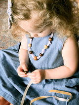 Wooden Beaded Necklace Kit